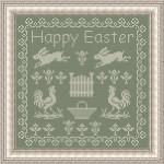 Punto Croce per la Pasqua – Quadro con Galline e Conigli