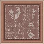 Schema a Punto Croce – Galline e Uccellini
