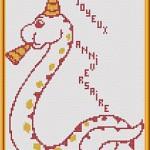 Punto Croce Schema di Ricamo – Serpente con Piffero
