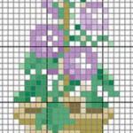 Schema a Punto Croce – Vaso con Fiori Arrampicanti