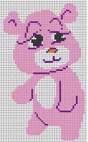 Punto croce per bambini orsetto rosa arte del ricamo for Angioletti punto croce per bambini
