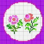Piccole Rose da Ricamare a Punto Croce