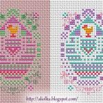 Schema a Punto Croce – Uova di Pasqua Colorate