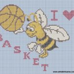 Sport e Ricamo – Schema a Punto Croce per Appassionati di Basket