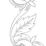 Disegni di Bordure con Rose per Ricamo