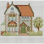 Schema a Punto Croce – Cottage Inglese