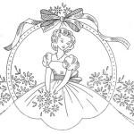 Disegno per Ricamo Vintage – Bordura con Damina