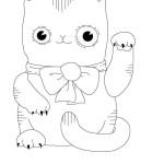 Disegno di Ricamo per Bambini – Cuscino con Gatto