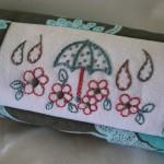 Disegno per Ricamo Vintage – Ombrello con Fiori