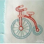Disegno per Ricamo Vintage – Penny Farthing