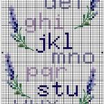 Schema di un Alfabeto con Fiori a Punto Croce