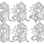 Schema di Ricamo – Alfabeto con Girasoli