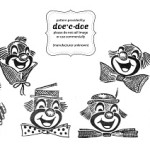 Disegno di Ricamo per Bambini – Clowns