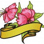 Disegni per Macchina da Cucire – Fiore Hibiscus