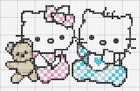 10 Patrones Punto de Cruz Hello Kitty – Primera Parte