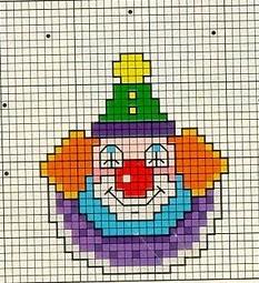10 schemi a punto croce per bambini pagliacci arte del for Angioletti punto croce per bambini