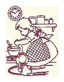 Ricami Punto Croce Per Cucina.Decorare Gli Asciugapiatti A Punto Croce Bambina In Cucina Arte