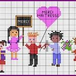 Schema a Punto Croce per Bambini – A Scuola