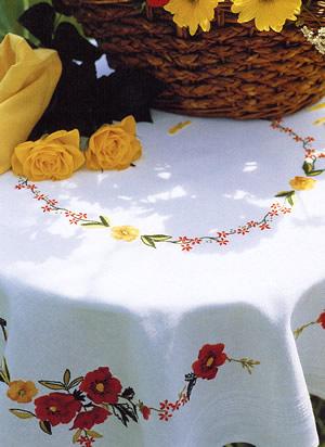 Come realizzare una tovaglia da tavola arte del ricamo - Tovaglie da tavola di natale ...