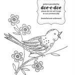 Disegno per Ricamo Vintage – Uccellino sul Rametto Fiorito