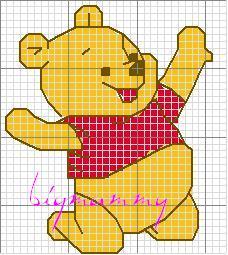 10 schemi a punto croce winnie the pooh arte del ricamo for Winnie the pooh punto croce