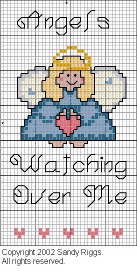 10 schemi a punto croce di angeli parte seconda arte for Angioletti punto croce per bambini
