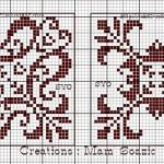 Biscornu a Punto Croce con Motivi Geometrici