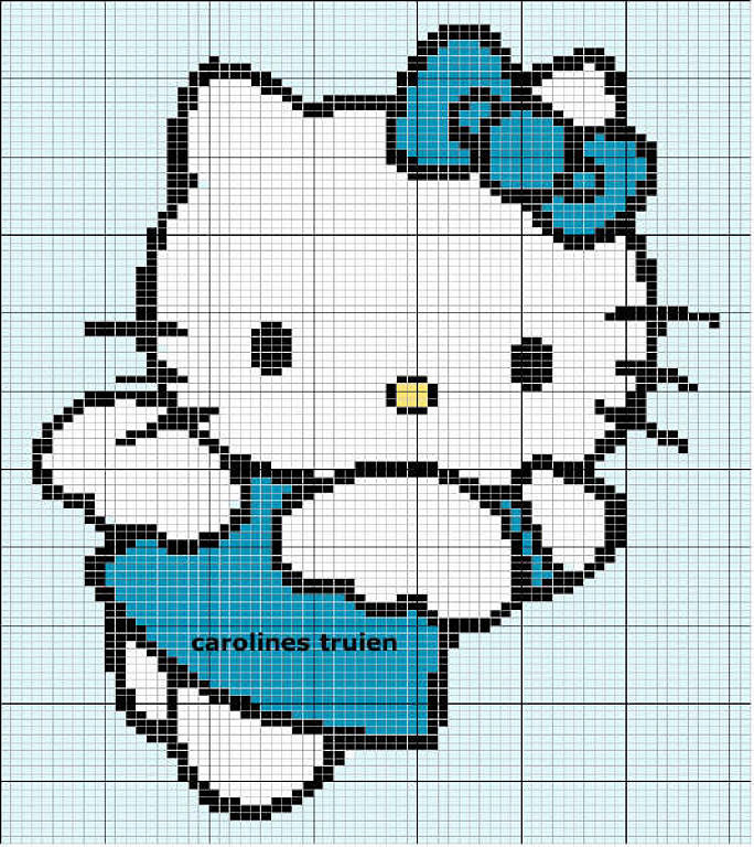10 Patrones Punto de Cruz Hello Kitty  Tercera Parte  Arte Del