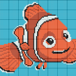Schema a Punto Croce – Pesciolino Nemo