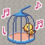Schema a Punto Croce – Uccellino in Gabbia