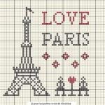 Schema a Punto Croce – Amo Parigi