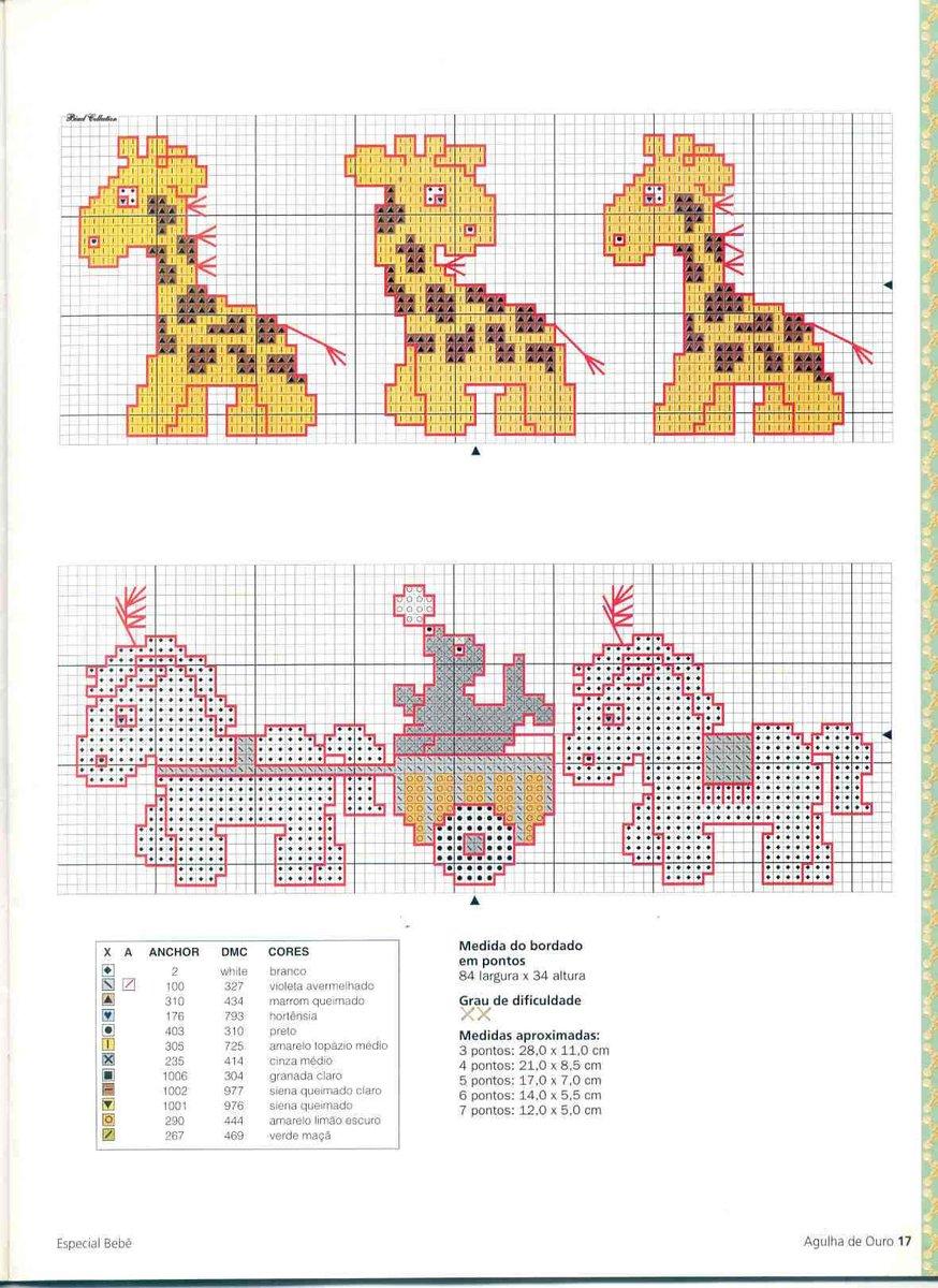 Schemi a punto croce per bambini giraffe arte del ricamo for Giraffa punto croce