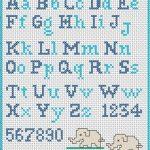 Ricamare Lettere dell'Alfabeto a Punto Croce – Schemi Gratuiti