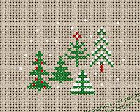 Piccolo Schemi Punto Croce Natale.Alberi Di Natale A Punto Croce Parte Seconda Arte Del Ricamo