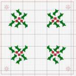 Schemi Natale a Punto Croce – Vischio