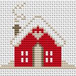Schema a Punto Croce – Casetta con la Neve