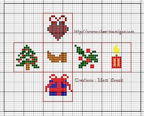 Piccolo Schemi Punto Croce Natale.Schemi Punto Croce Simboli Natalizi Arte Del Ricamo
