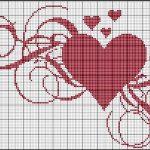 Schemi a Punto Croce per San Valentino