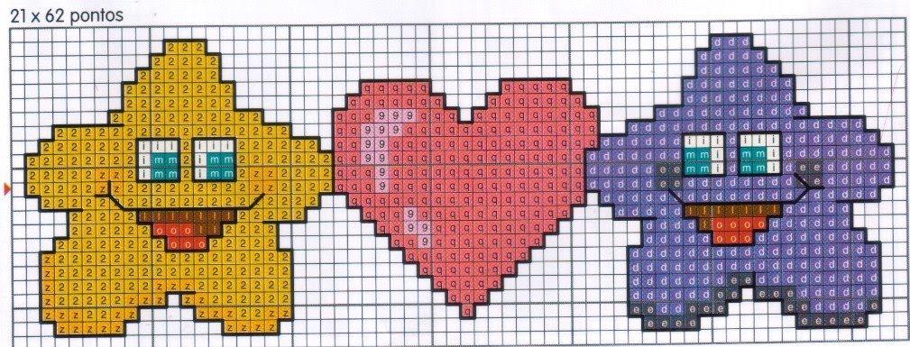 Conosciuto Schemi a Punto Croce per San Valentino – Arte Del Ricamo KO08