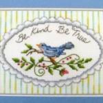 Quadro Punto Croce – Be Kind Be True