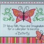 Quadro Punto Croce – Farfalle