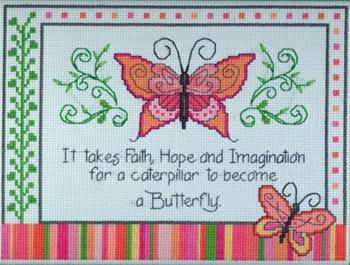 Quadro punto croce farfalle arte del ricamo for Farfalle da ricamare