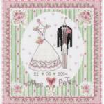 Punto Croce – Quadro Matrimonio