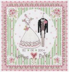 quadro matrimonio punto croce