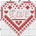 Schema di Ricamo – Cuore San Valentino