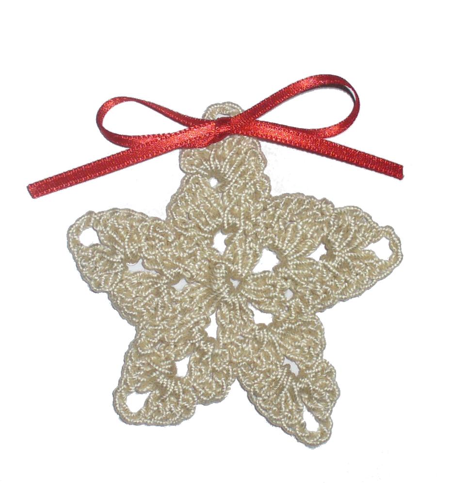 Creare decorazioni natalizie all uncinetto stelle arte - Decorazioni uncinetto ...