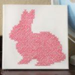 Un Semplice Coniglio a Punto Croce