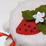 decorazioni feltro fragole