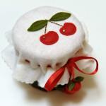 decorazioni feltro ciliegie