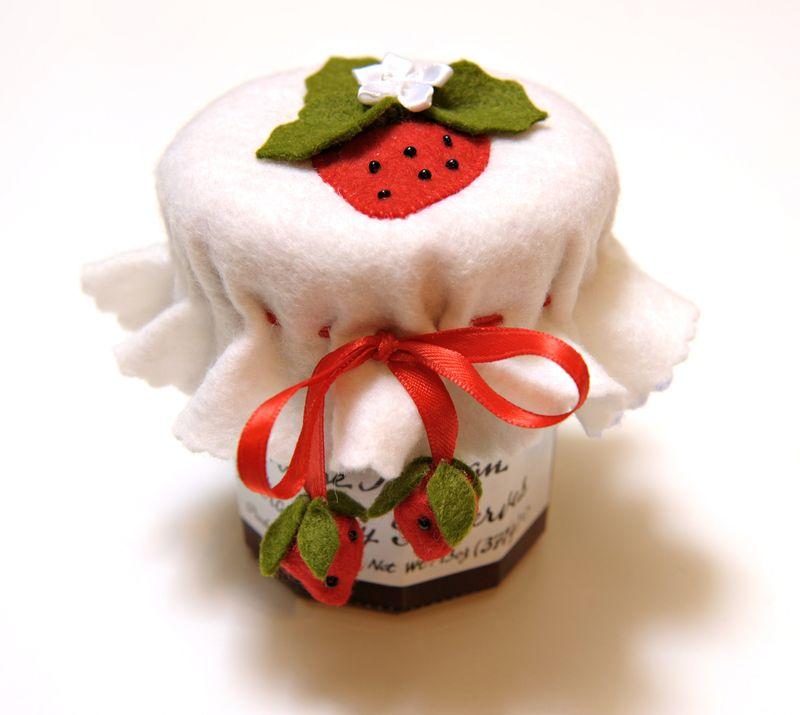 copribarattolo feltro con frutti